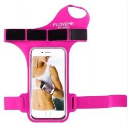 Sportovní obal pro mobil na zápěstí - růžový