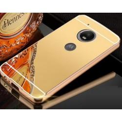 Zrcadlový kryt pro Lenovo Moto G5 PLUS - Zlatý