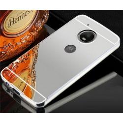 Zrcadlový kryt pro Lenovo Moto G5 PLUS - Stříbrný