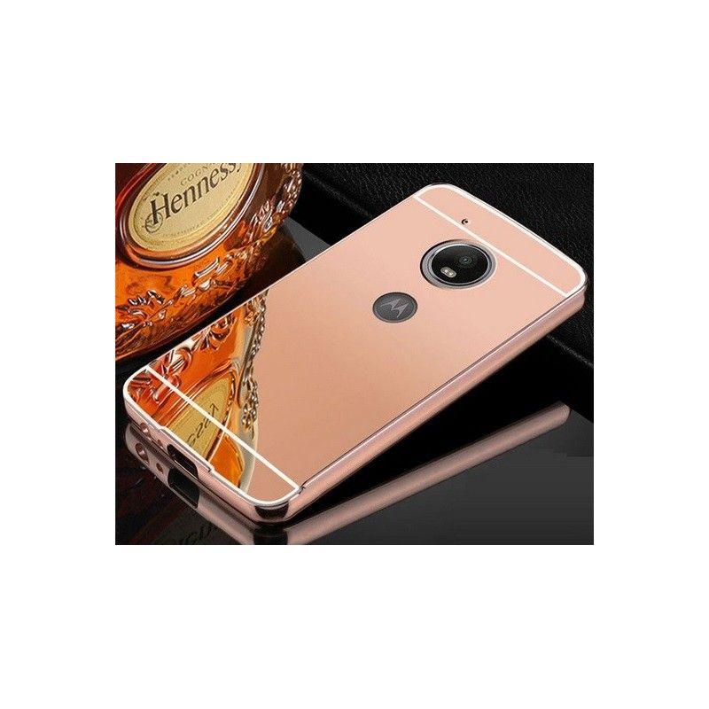 Zrcadlový kryt pro Lenovo Moto G5 PLUS - Růžový