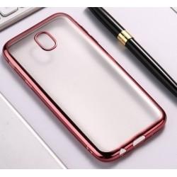 Silikonový obal s růžovým rámečkem pro Samsung Galaxy J7 2017