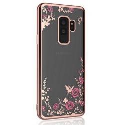 Silikonový obal se vzorem a rámečkem pro Samsung Galaxy A6 Plus