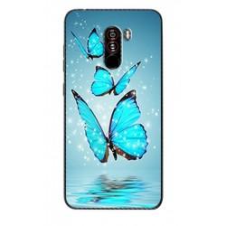 Xiaomi Pocophone F1 silikonový obal s potiskem Motýli