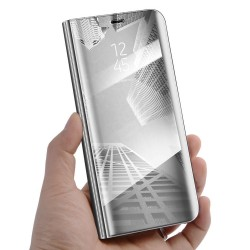 Zrcadlové pouzdro na Samsung Galaxy M20 - Stříbrný lesk