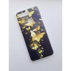 Honor View 20 silikonový obal s potiskem Zlatí motýlci