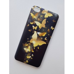 Xiaomi Redmi Go silikonový obal s potiskem Zlatí motýlci