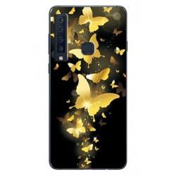 Samsung Galaxy A9 silikonový obal s potiskem Zlatí motýlci