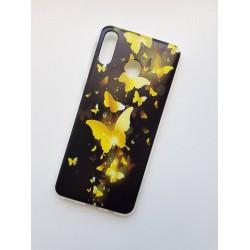 Samsung Galaxy M20 silikonový obal s potiskem Zlatí motýlci