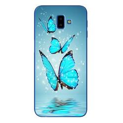 Samsung Galaxy J6+ silikonový obal s potiskem Motýli