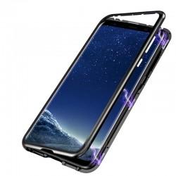 Magnetický kryt s tvrzeným sklem na Samsung Galaxy M20
