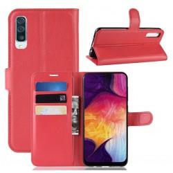 Knížkové červené pouzdro s poutkem pro Samsung Galaxy A70