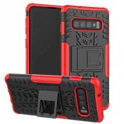 Samsung Galaxy S10e odolný červený obal Panzer case