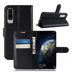 Knížkové černé pouzdro s poutkem pro Huawei P30