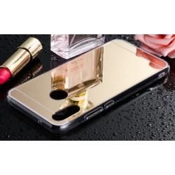 Samsung Galaxy A40 zrcadlový kryt TPU - Zlatý lesk