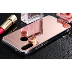 Samsung Galaxy A40 zrcadlový kryt TPU - Růžový lesk