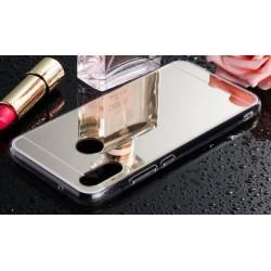 Samsung Galaxy A40 zrcadlový kryt TPU - Stříbrný lesk