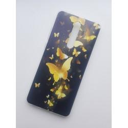 Xiaomi Mi 9T silikonový obal s potiskem Zlatí motýlci