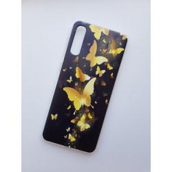 Huawei P30 silikonový obal s potiskem Zlatí motýli