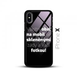 Obal s vlastní fotkou a skleněnými zády na mobil iPhone X