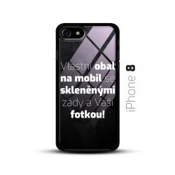 Obal s vlastní fotkou a skleněnými zády na mobil iPhone 8