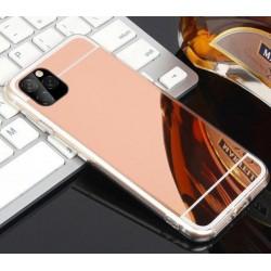 iPhone 11 Pro zrcadlový silikonový obal - Růžový