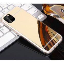 iPhone 11 Pro Max zrcadlový silikonový obal - Zlatý