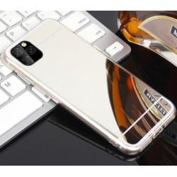 iPhone 11 Pro Max zrcadlový silikonový obal - Stříbrný