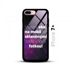 Obal s vlastní fotkou a skleněnými zády na mobil iPhone 7+