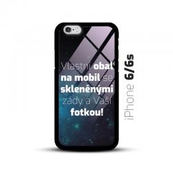 Obal s vlastní fotkou a skleněnými zády na mobil iPhone 6/6s