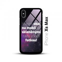 Obal s vlastní fotkou a skleněnými zády na mobil iPhone Xs Max