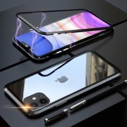 Magnetický kryt s tvrzeným sklem na iPhone 11