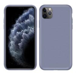 Jednobarevný gumový obal na iPhone 11 Pro - Modrá