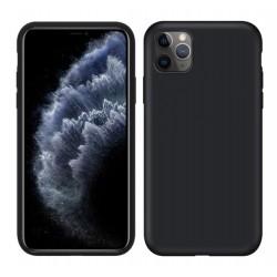 Jednobarevný gumový obal na iPhone 11 Pro - Černá