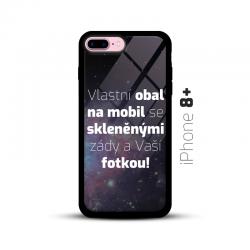 Obal s vlastní fotkou a skleněnými zády na mobil iPhone 8+