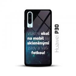 Obal s vlastní fotkou a skleněnými zády na mobil Huawei P30