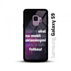 Obal s vlastní fotkou a skleněnými zády na mobil Samsung Galaxy S9