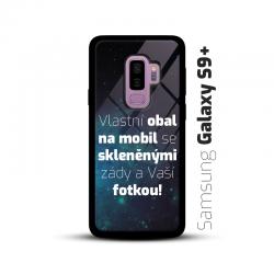 Obal s vlastní fotkou a skleněnými zády na mobil Samsung Galaxy S9 Plus