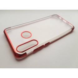 Silikonový obal s barevným rámečkem na Huawei P30 Lite - Červená