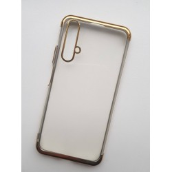 Silikonový obal s barevným rámečkem na Huawei Nova 5T - Zlatá