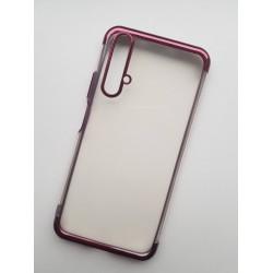TPU obal na Huawei Nova 5T s barevným rámečkem - Fialová