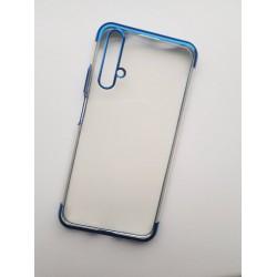 TPU obal na Huawei Nova 5T s barevným rámečkem - Modrá