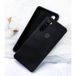Jednobarevný gumový obal na Xiaomi Redmi Note 8 - Černá