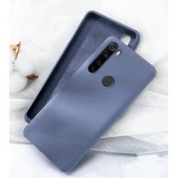 Jednobarevný gumový obal na Xiaomi Redmi Note 8 - Modrá
