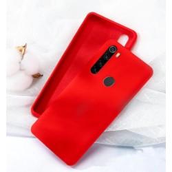 Jednobarevný gumový obal na Xiaomi Redmi Note 8 - Červená