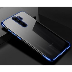 Silikonový obal s barevným rámečkem na Xiaomi Redmi Note 8 Pro - Modrá