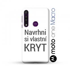 Motorola Moto One Macro kryt s vlastní fotkou