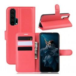 Knížkové červené pouzdro s poutkem pro Huawei Nova 5T