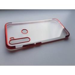 Silikonový obal s barevným rámečkem na Xiaomi Redmi Note 8 - Červená