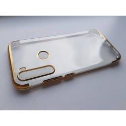 Silikonový obal s barevným rámečkem na Xiaomi Redmi Note 8T - Zlatá