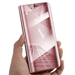 Zrcadlové pouzdro na Samsung Galaxy A51 - Růžový lesk